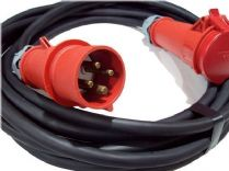 20m  400v 3 phase 4 pin  32a extension lead (6mm H07 cable) IP44 Rated